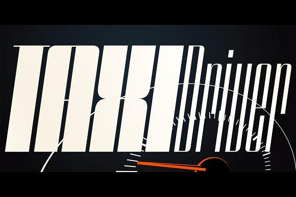 Speedometer Font