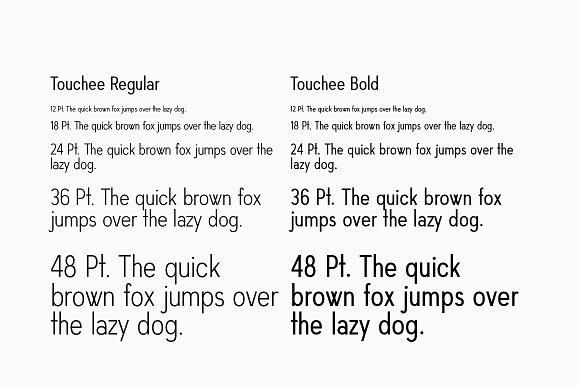 Touchee Minimal Sans Serif