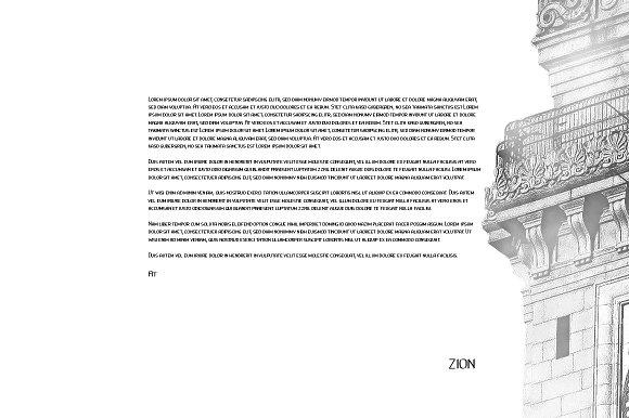 Zion Minimalist Font