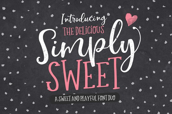 The Simply Sweet Font Duo - iFonts xyz