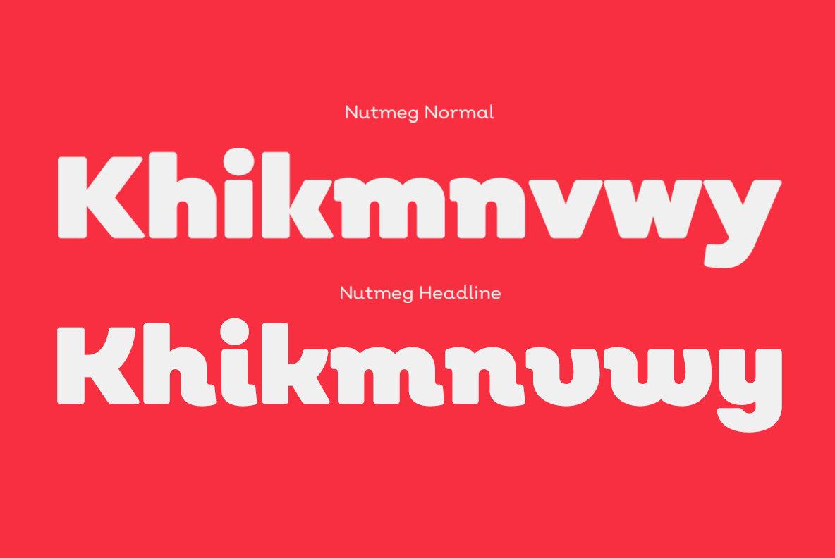 Nutmeg Font Family