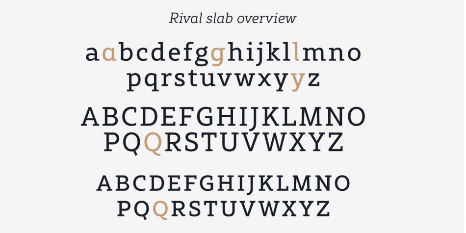 Rival Slab Font Family - 16 Fonts