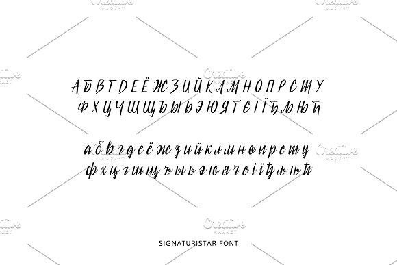 Signaturistar Font