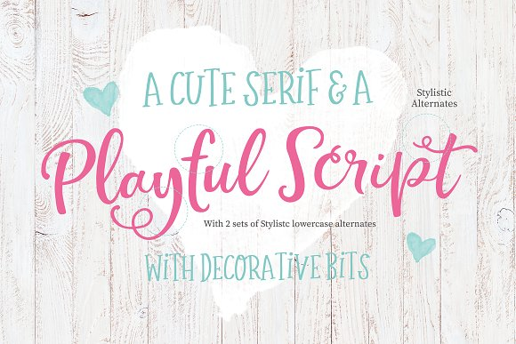 The Simply Sweet Font Duo