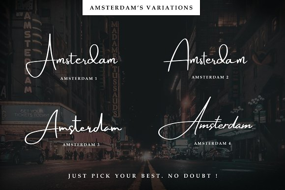 Amsterdam • 8 Elegant Fonts