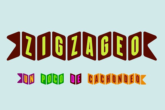 Zigzageo -3 fonts