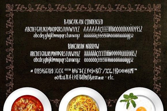 Bancakan Typeface