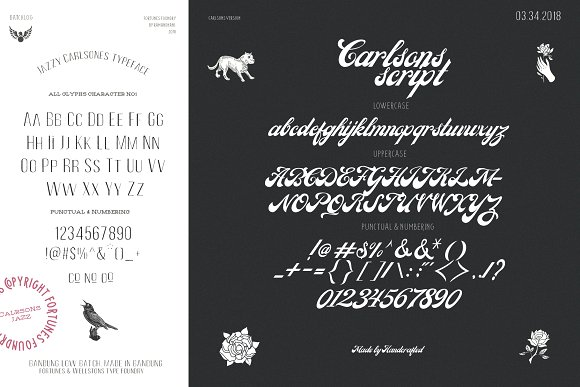 Carlsons (10 Fonts)+Extra