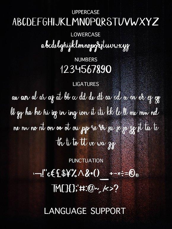 Dark Street - script font