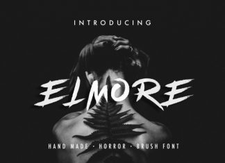 Elmore - Brush Font
