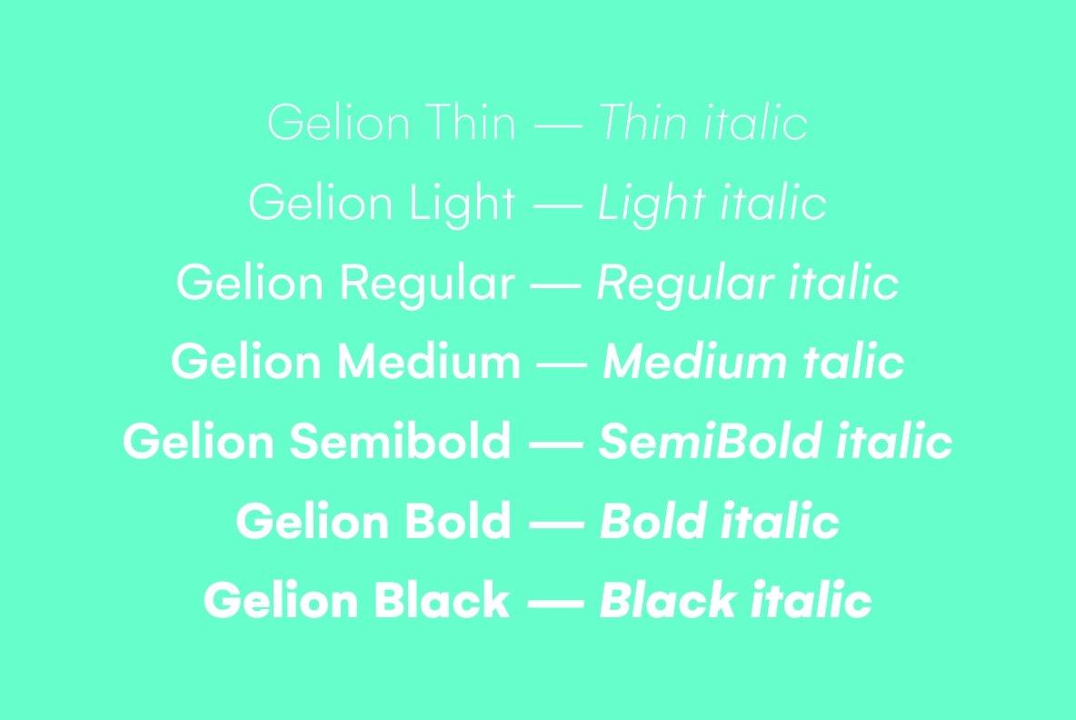 Gelion Font Family