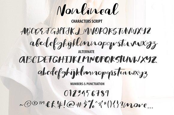 Nonlineal Script Fonts