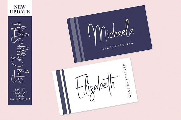 Stay Classy - Font Family
