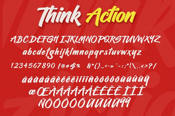 Think Action font