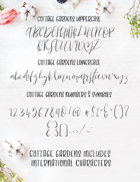 Cottage Gardens Script Font Duo