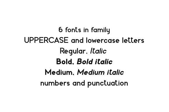Fabiano. Sans serif family