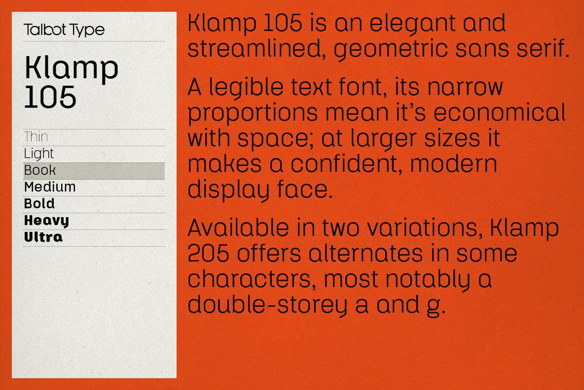 Klamp 105 Font Family - iFonts xyz