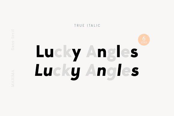MAXIMUS Sans Serif Font