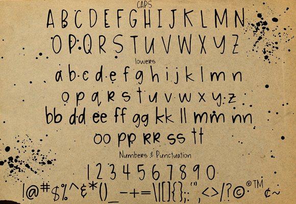 Messy Ink Pen Handwriting Font