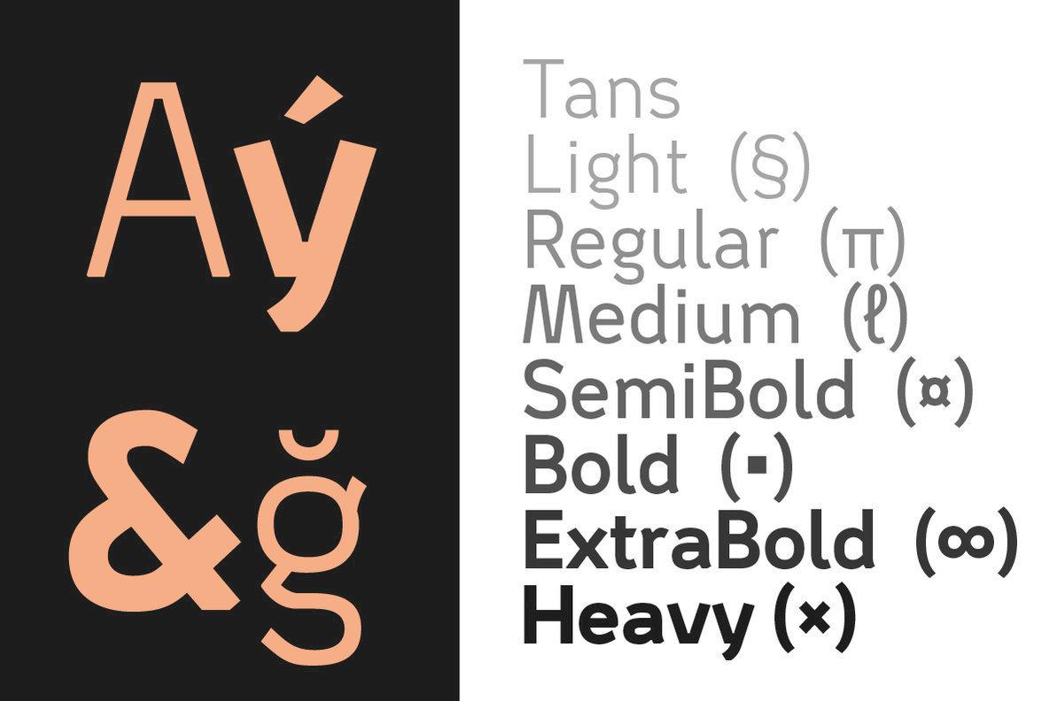 Tans Font Family