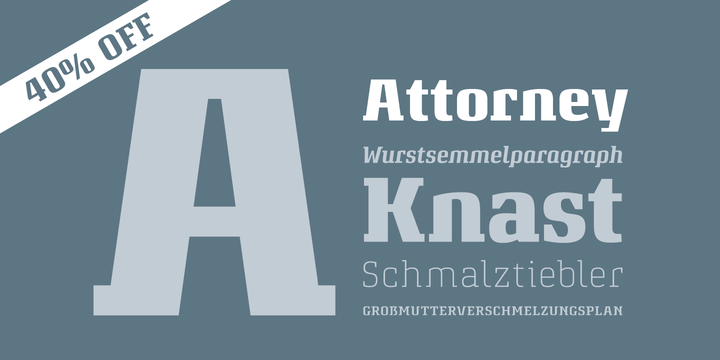 Attorney Font Family
