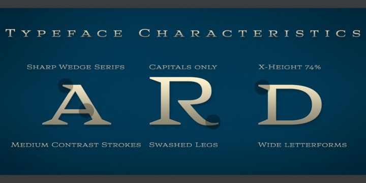 Aviano Wedge Font Family
