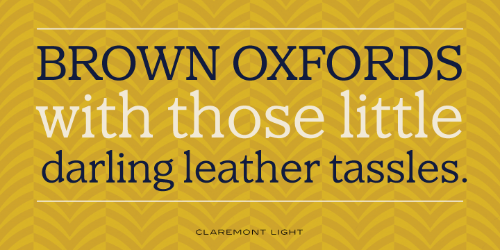 Claremont Font Family