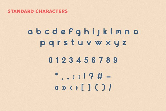 Culonite | Lowercase rounded family