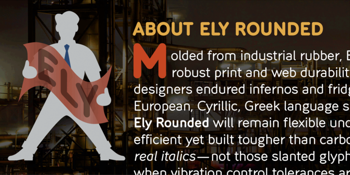 Ely Rounded Font Family