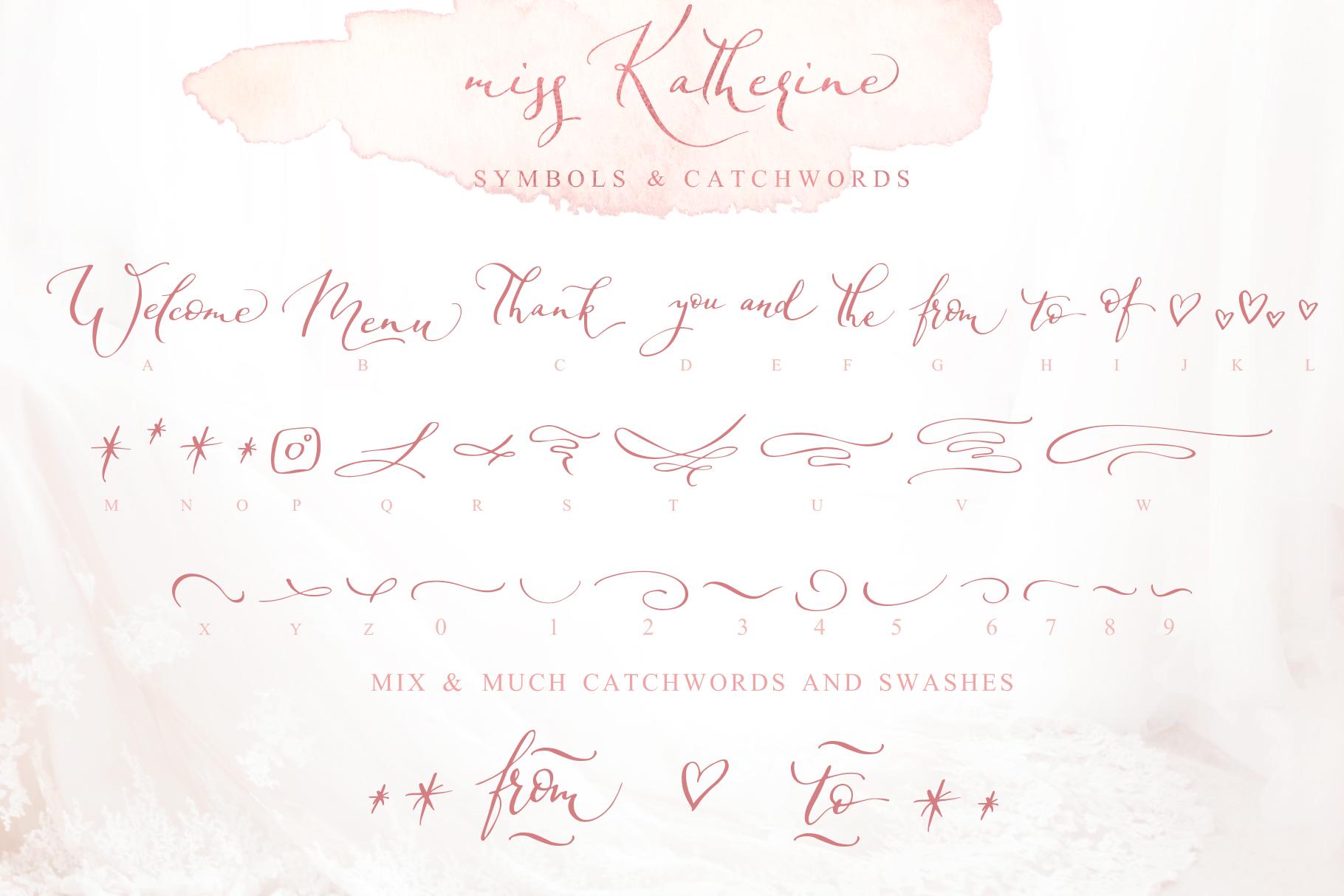 Miss Katherine Font + Extras