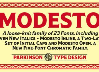 Modesto Font Family