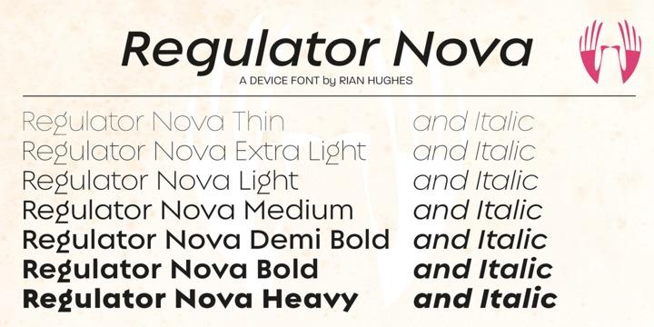 Regulator Nova Font Family