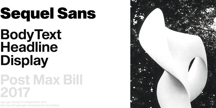 Sequel Sans Font Family