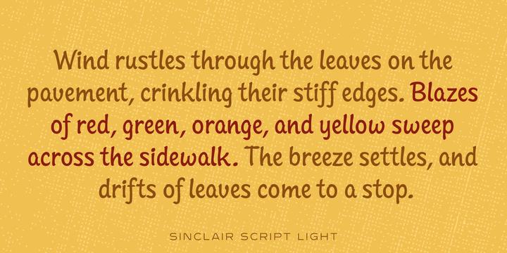 Sinclair Script Font Family
