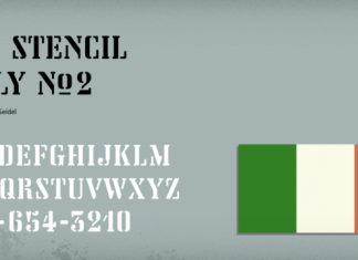 Vtg Stencil Italy No2 Font