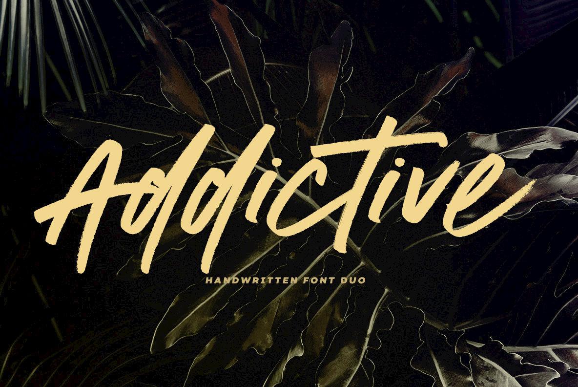 Addictive Script Font