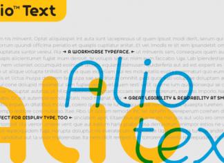 Alio Text Font Family