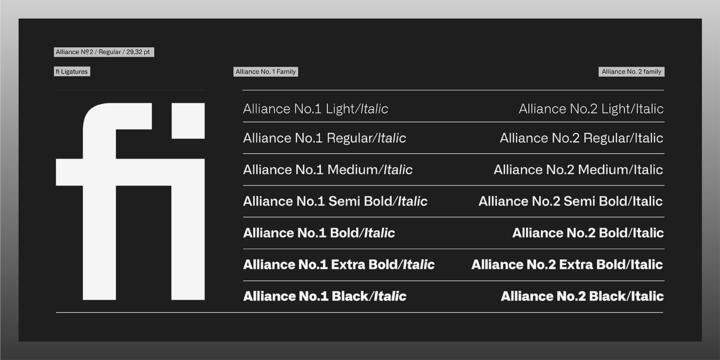 Alliance Font Family