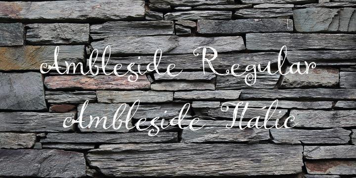 Ambleside Font