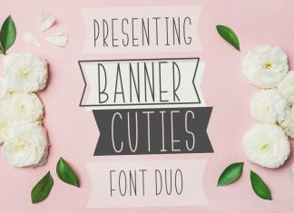 Banner Cuties Typefac