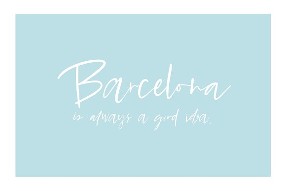 Barcelona Nights Script Font