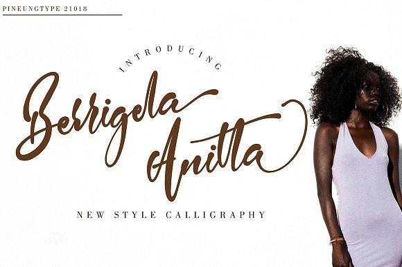 Berrigela Anitta Script Font