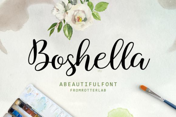 Boshella Script Font