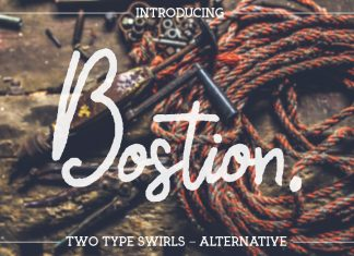 Bostion Script Font