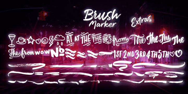 Brush Marker Font