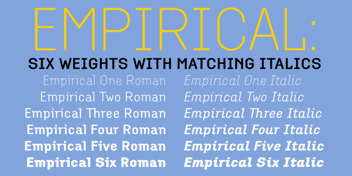 Empirical Font Family