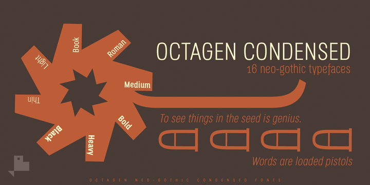 Octagen Condensed Font Family