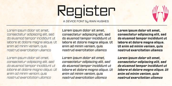 Register Font Family
