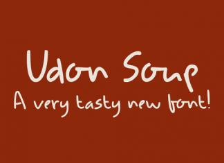Udon Soup Font