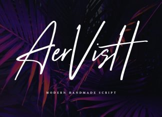 Aervish Typeface Font